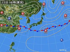 実況天気図(2015年06月17日)