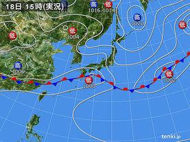 実況天気図(2015年06月18日)