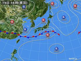 実況天気図(2015年06月19日)