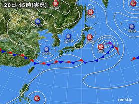 実況天気図(2015年06月20日)