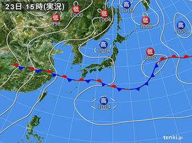 実況天気図(2015年06月23日)
