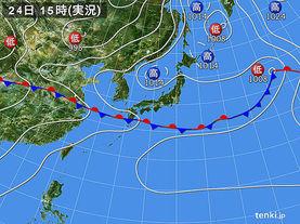 実況天気図(2015年06月24日)