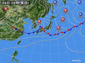 実況天気図(2015年06月26日)