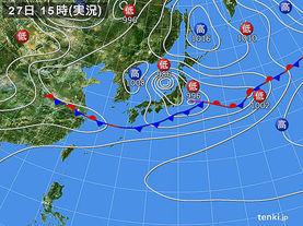 実況天気図(2015年06月27日)