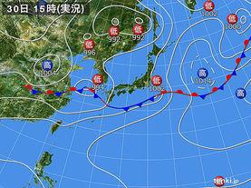 実況天気図(2015年06月30日)