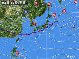 実況天気図(2015年07月03日)