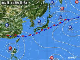 実況天気図(2015年07月05日)