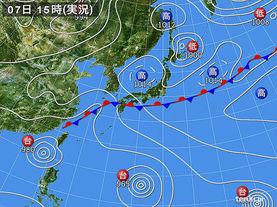 実況天気図(2015年07月07日)