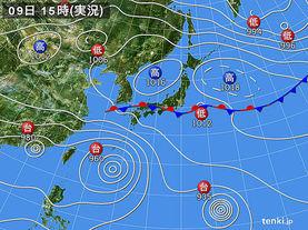 実況天気図(2015年07月09日)