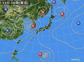実況天気図(2015年07月12日)