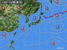 実況天気図(2015年07月19日)