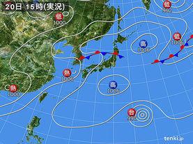 実況天気図(2015年07月20日)