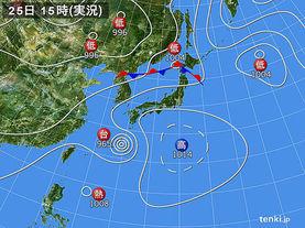 実況天気図(2015年07月25日)