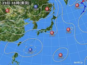 実況天気図(2015年07月29日)