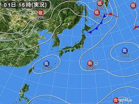実況天気図(2015年08月01日)