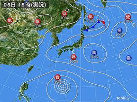 実況天気図(2015年08月05日)
