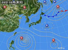 実況天気図(2015年08月06日)