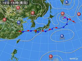 実況天気図(2015年08月16日)