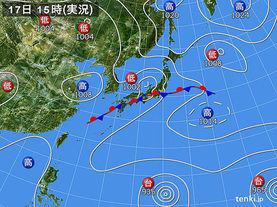 実況天気図(2015年08月17日)
