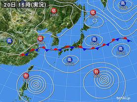 実況天気図(2015年08月20日)