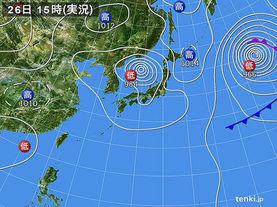 実況天気図(2015年08月26日)