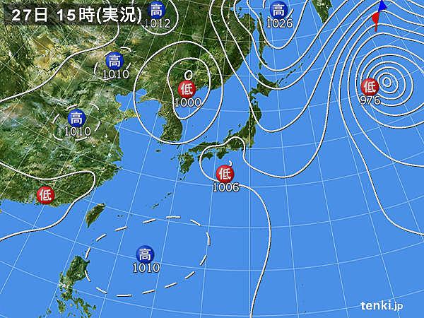 実況天気図(2015年08月27日)