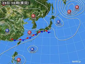 実況天気図(2015年08月29日)