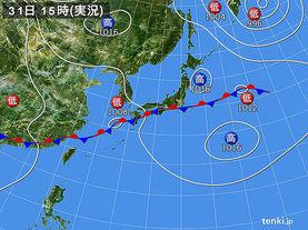 実況天気図(2015年08月31日)