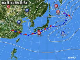 実況天気図(2015年09月03日)
