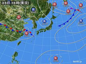 実況天気図(2015年09月05日)