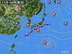実況天気図(2015年09月17日)
