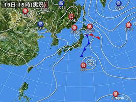実況天気図(2015年09月19日)