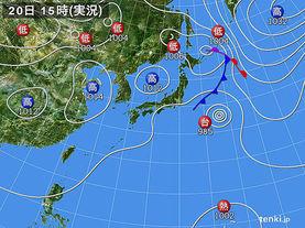 実況天気図(2015年09月20日)