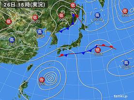 実況天気図(2015年09月26日)
