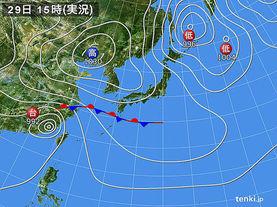 実況天気図(2015年09月29日)