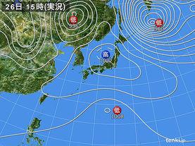 実況天気図(2015年10月26日)