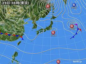 実況天気図(2015年10月29日)