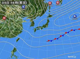 実況天気図(2015年11月05日)