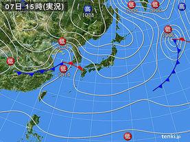 実況天気図(2015年11月07日)