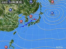 実況天気図(2015年11月08日)
