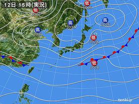 実況天気図(2015年11月12日)