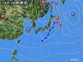 実況天気図(2015年11月15日)