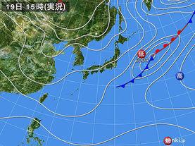 実況天気図(2015年11月19日)