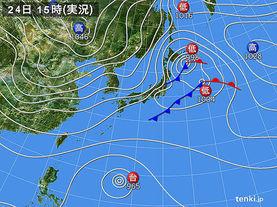 実況天気図(2015年11月24日)