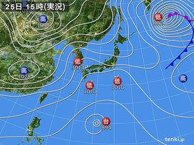 実況天気図(2015年11月25日)