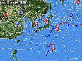 実況天気図(2015年11月26日)