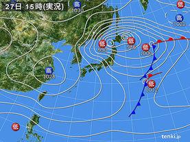 実況天気図(2015年11月27日)
