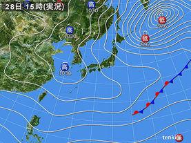 実況天気図(2015年11月28日)