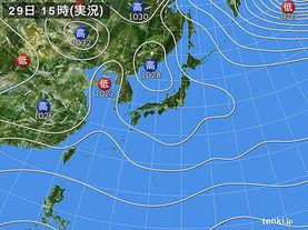 実況天気図(2015年11月29日)
