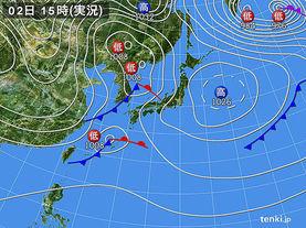 実況天気図(2015年12月02日)